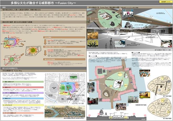 まちの活性化・都市デザイン競技案 福井城址周辺地区